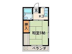 東京都府中市府中町2丁目の賃貸アパートの間取り