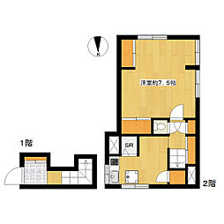 野地ハウス[2階]の間取り