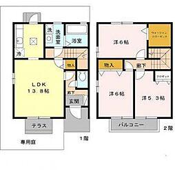 ファミール田井城[D101号室号室]の間取り