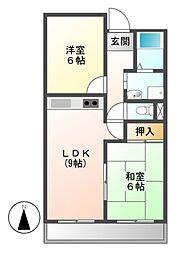 SHマンション名東[6階]の間取り