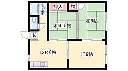 シャルマン岸田[2階]の間取り