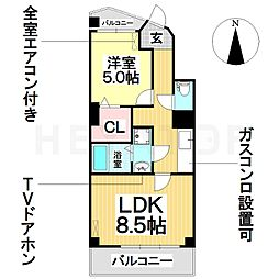 愛知県名古屋市瑞穂区妙音通3丁目の賃貸マンションの間取り