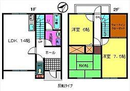 [テラスハウス] 大阪府岸和田市小松里町 の賃貸【/】の間取り