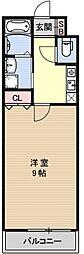 プランブルー円町[101号室号室]の間取り