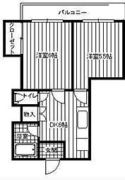 第二ミカドマンション[2階]の間取り