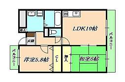 兵庫県神戸市垂水区野田通の賃貸マンションの間取り