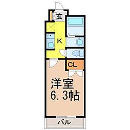 愛知県名古屋市昭和区向山町1丁目の賃貸マンションの間取り