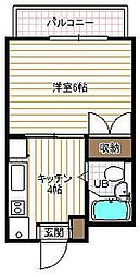 アーバンハイツ柴田[203号室]の間取り