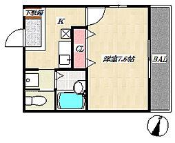 コンフォート狭山[207号室号室]の間取り
