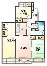 コーポレート小金井梶野通り7号棟[4階]の間取り