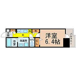 WillDo太閤通(ウィルドゥタイコウドオリ)[14階]の間取り