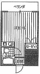 姫里プラザ[503号室]の間取り