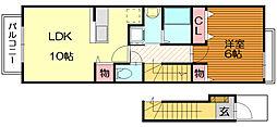 グレース名島II[2階]の間取り