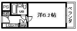 ユニデンス貝塚[402号室]の間取り