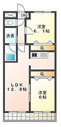 プリミエールTs[4階]の間取り