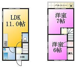 [一戸建] 東京都江戸川区江戸川5丁目 の賃貸【/】の間取り