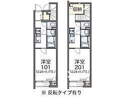 兵庫県豊岡市中陰の賃貸アパートの間取り