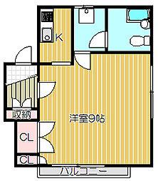 小山パーシモン[2階]の間取り