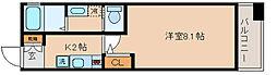 兵庫県神戸市長田区浪松町3丁目の賃貸マンションの間取り