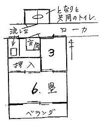 銀山ハウス[11号室号室]の間取り