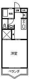 コーポトミタカ[205号室]の間取り