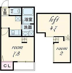 ヴィサージュ新栄[1階]の間取り