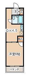 オリエント藤沢六会ハウス[314号室]の間取り