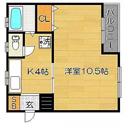 ひまわりマンション so[2階]の間取り