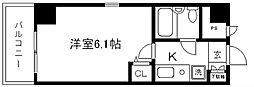 デトムワン二条城南[502号室]の間取り