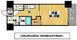 JR日田彦山線 南小倉駅 徒歩23分の賃貸マンション 9階1Kの間取り