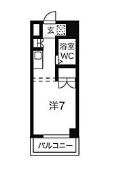ハニリリカ3[5階]の間取り