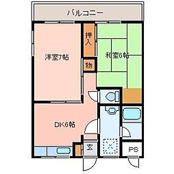 山本マンション[4階]の間取り