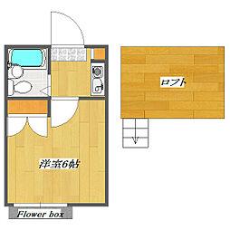 Plaza Kemigawa B棟[106号室]の間取り