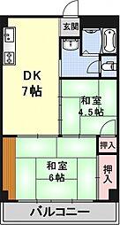 平木マンション[55号室号室]の間取り