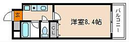 京都府京都市上京区笹屋4丁目の賃貸マンションの間取り