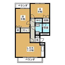 MDイーストI[2階]の間取り
