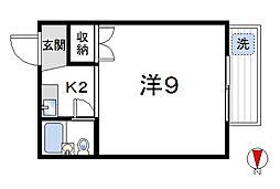 東京都杉並区高円寺北1丁目の賃貸マンションの間取り