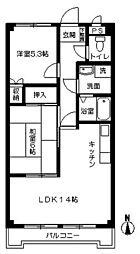 愛知県名古屋市名東区神月町の賃貸マンションの間取り