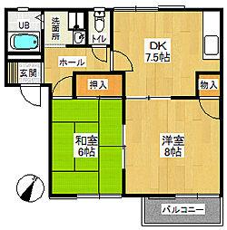 サニーハイム狭山A[101号室号室]の間取り