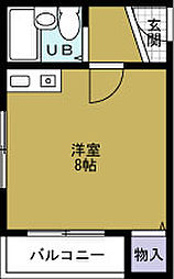 ポートビル坂本[6階]の間取り