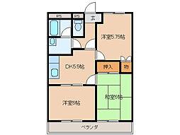 NEW FIVEII[2階]の間取り