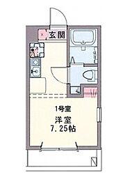 コスタ横須賀中央[302号室]の間取り