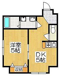 リーフジャルダン・レジデンスタワー[7階]の間取り