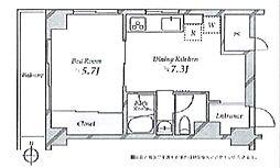 ルネ西蒲田 bt[401kk号室]の間取り