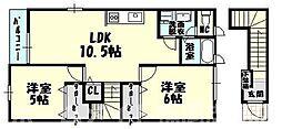 [タウンハウス] 福岡県糟屋郡志免町別府東1丁目 の賃貸【/】の間取り