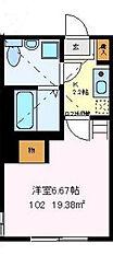 神奈川県横須賀市追浜南町1丁目の賃貸アパートの間取り