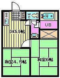 川崎ハイツ[202号室]の間取り