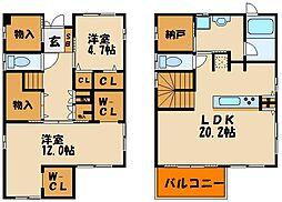 [一戸建] 兵庫県神戸市西区白水2丁目 の賃貸【/】の間取り