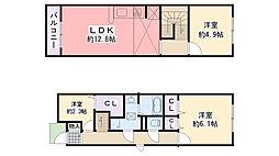 [テラスハウス] 兵庫県西宮市小松町2丁目 の賃貸【/】の間取り