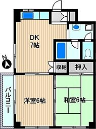 ロイヤルシティ夢見ヶ崎[3階]の間取り